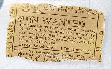 Shackleton Advert